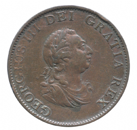 George III 1799 British Halfpenny Soho Mint